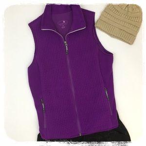 Tangerine Bright Purple Fleece Vest sz. L